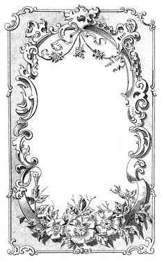 Digital Frame Image - Ornate European - The Graphics Fairy
