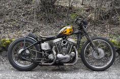 Kevin McKay uploaded this image to 'japan scene'. See the album on Photobucket. Ironhead Sportster, Sportster Chopper, Custom Sportster, Harley Bobber, Harley Bikes, Bobber Chopper, Custom Motorcycles, Vintage Motorcycles, Bobbers