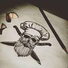 Cooking Asparagus In The Oven Koch Tattoo, Cooking Tattoo, Culinary Tattoos, Tattoo Caveira, Chef Tattoo, Food Tattoos, Knife Tattoo, Shetland, Trash Polka