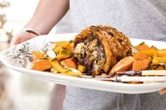 Slow-roasted pork with thyme and marjoram