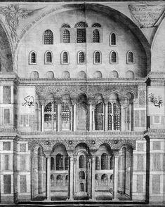 Close-up South side of Nave in Hagia Sophia