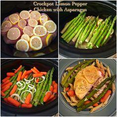 Crockpot Lemon Pepper Chicken with Asparagus