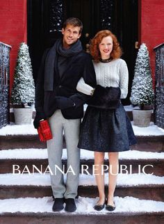 Banana Republic Holiday 2011 {I love Karen Elson's hair in this campaign}
