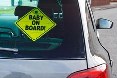 The presence of a 'baby on board' sticker could be misleading emergency services in the aftermath of a car accident.