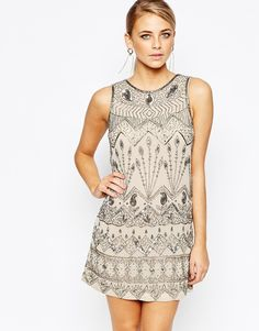 Image 1 ofOasis Deco Beaded Flapper Dress
