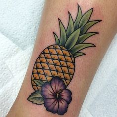 traditional pineapple tattoo - Google Search #hawaiiantattoos