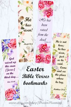 Here is Set of 15 Easter Bible verses Bookmarks that are perfect for bible journaling. Blessings to you all! Verses For Cards, Scripture Cards, Scripture Study, Prayer Cards, Bible Art, Bible Bookmark, Bookmarks, Easter Bible Verses, Study Cards