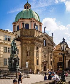 St. Francis of Assisi Church (17th century) by Charles Bridge in Prague, Czech Republic