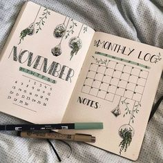 bullet journal My entry for Since I already did my monthly log for november Bullet Journal School, Bullet Journal Inspo, Bullet Journal Novembre, Bullet Journal Page, Bullet Journal Notebook, Bullet Journal Aesthetic, Book Journal, Bullet Journals, Monthly Bullet Journal Layout