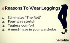 4 Reasons To Wear Leggings - check out hellolilo.com
