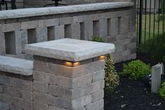 """Under the cap lighting "" all available at BF Landscape  856-740-1445 www.bflandscape.com"