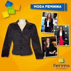 O blazer é capaz de transformar qualquer produção básica em um look moderno e elegante. Tem que ter!   #FeirinhadaConcórdia #Top #Fashion #Inverno #Moda