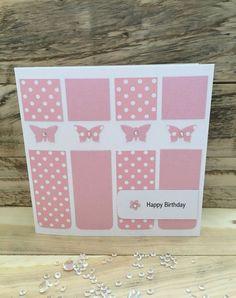 Handmade Birthday Card Happy Birthday butterfly mum