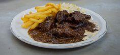 Delhaize - Stoofvlees met frietjes