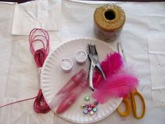 Dream Catcher Materials/threading instructions for kids