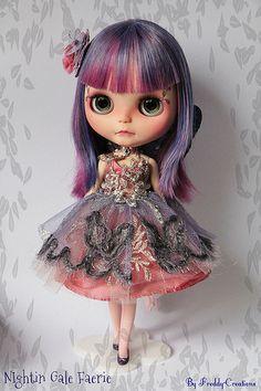 Nigthin Gale showing her OOAK Delicate Dress ..