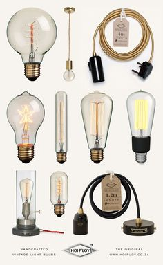 Visits: Hoi P'loy | Miss Moss Handmade light bulbs and fittings, from Cape Town.