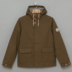 £164 - Norse Projects - Nunk Cotton Jacket in Olive