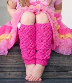 Girly Leg Warmers: free crochet pattern