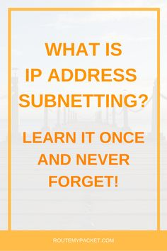 Discover an absolutely amazing way to calculate subnetting that will make you a pro at calculating IP Address subnets. Become a pro and never forget subnetting again.   Become the best at computer networks, network design, network security, routing, switching and all things networking related!