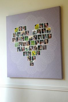 DIY wall art with your family pictures on canvas