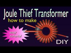 (198) JouleThief Transformer - how to make - DIY - YouTube