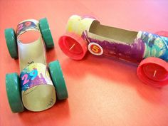 Paper towel roll cars