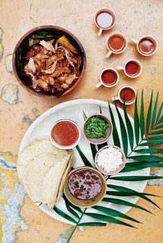 Taco bar in a bold Mexico City fiesta celebrating the city's modern aesthetic.