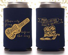 Nashville Bachelorette Party Custom Can Cooler Beer Cozy by TheDrinkingBuddy on Etsy https://www.etsy.com/listing/259445497/nashville-bachelorette-party-custom-can
