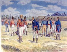 The surrender of Detroit, August 15-16, 1812, by the US commander William Hull.