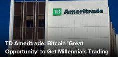 "Investment services firm TD Ameritrade sees cryptocurrencies as the ""greatest opportunity"" to get millennials to trade, says its chief strategist JJ Kinahan.    Visit BitcoinWeasel.com - Bitcoin Video, Cryptocurrency Videos & Breaking News    Bitcoin Video, News, Information on Cryptocurrency, Ethereum Classic, Litecoin, Zcash, Dash, Ripple, Monero, digital currency, blockchain technology, bitcoin mining, bitcoin price, value, Coinbase, NEM, IOTA, Veritaseum, What is Bitcoin? Bitcoin Wallet,"