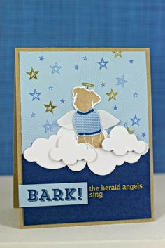 Bark! The Herald Angels Sing Card by Erin Lincoln for Papertrey Ink (October 2013)