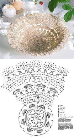 Crochet Bowl, Crochet Basket Pattern, Filet Crochet, Crochet Doilies, Crochet Patterns, Crochet Hats, Basket Decoration, Easter Baskets, Happy Easter