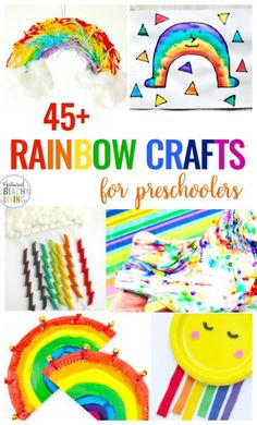 Rainbow Crafts For Preschoolers Natural Beach Living - Rainbow Crafts For Preschool Here You Will Find The Best Rainbow Crafts For Kids These Crafts Are Perfect For A Rainbow Theme Rainbow Activities Or If You Are Looking For Spring Craft Ideas Ra Name Crafts, Diy And Crafts, Crafts For Kids, Arts And Crafts, Crab Crafts, Rainbow Activities, Spring Activities, Rainbow Crafts Preschool, Weather Activities
