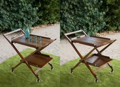 Mid Century Modern Walnut Serving Cart by oldcloudco on Etsy, $425.00 Serving Cart, Picnic Table, Drafting Desk, Cloud, Midcentury Modern, Mid Century, Etsy, Furniture, Home Decor
