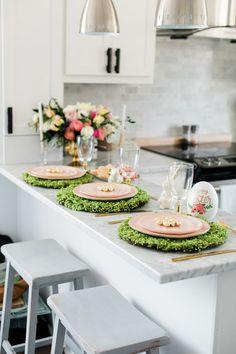 Elegant Modern Easter Brunch Tablescape
