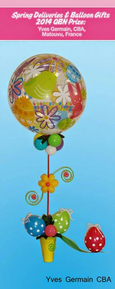 Discover the best Spring Balloon Creations on The Very Best Balloon Blog #balloon #qualatex #easter