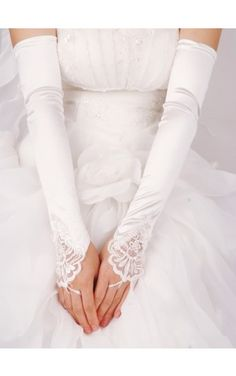 Lace wedding gloves 29