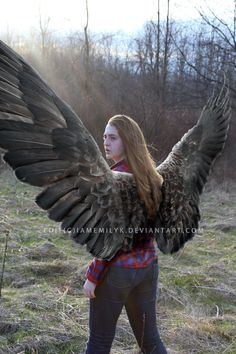 """Hearing something, the wings flexed as I turned my head to my shoulder. My old El Camino barreled toward me, the car skidding to a stop. Jake and Dean slammed the doors as they stomped over to me. """"What the-?"""" I interrupted, """"No questions asked. I'm glad you came. Remember the angel who healed me? He gave me his wings so he could be free of them. He didn't tell us of this. This isn't my fault!"""""""