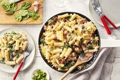Enjoy our delicious quick and easy dinner recipes that you can cook up in 30 minutes or less. Quick and easy recipes that your family will love. Risotto Recipes, Pasta Recipes, Dinner Recipes, Cooking Recipes, Dinner Ideas, Sausage Rigatoni Recipes, Baked Rigatoni, Dinner Dishes, Pasta Dishes