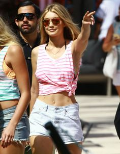 Gigi Hadid is a famous supermodel now, and that means that she should get used to the rumors, the gossip, and increased media scrutiny. Victoria Secret Party, Famous Supermodels, Celebrity Scandal, Gigi Hadid, Favorite Person, Crop Tops, Celebrities, Gossip, Queens
