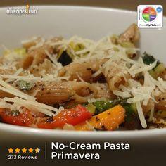 No-Cream Pasta Primavera from Allrecipes.com #myplate #veggies #grain