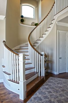 Beautiful Staircase & Entry by Shaddock Homes at Phillips Creek Ranch #Staircase #ShaddockHomesTX