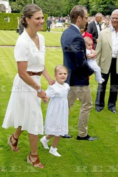 Victoria Day, Stockholm, Sweden - 14 Jul 2016 Crown Princess Victoria, Prince Daniel, Prince Oscar and Princess Estelle 14 Jul 2016