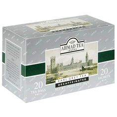 Ahmad Tea Decaffeinated Earl Grey Tea, 20-Count Boxes (Pack of 6) $18.09