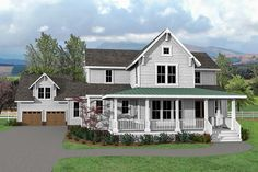 Charming and Exclusive Farmhouse House Plan - 500026VV | Architectural Designs - House Plans
