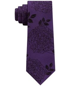 DKNY Men's Rose Tattoo Silk Slim Tie - Ties & Pocket Squares - Men - Macy's