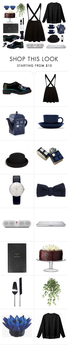 """""""Welcome to my tea party"""" by lisok ❤ liked on Polyvore featuring Dr. Martens, iittala, Topshop, Zippo, Junghans, Beats by Dr. Dre, Smythson, LSA International, Fab and CC"""