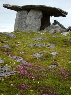 Six thousand year old megalithic tomb one of the oldest monuments in the world. Poulnabrone Dolmen County Clare Ireland