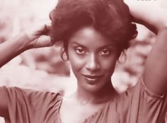 beautiful photo of phylicia rashad. old photo. love the style of it.